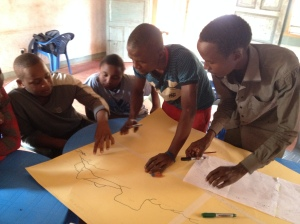 Working with the youth to map the route taken by their forefathers